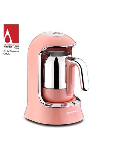 Korkmaz Kahvekolik Pembe Otomatik Kahve Makinesi Pembe